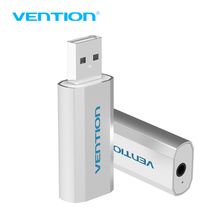 Vention USB External Sound Card USB To AUX Jack 3.5mm Earphone Adapter Audio Mic Sound Card 5.1 Free Drive For Computer Laptop(China)