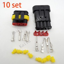 New Car Part 10 kit 4 Pin Way Sealed Waterproof Electrical Wire Auto Connector Plug free shipping with registered
