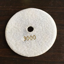 "5"" 125mm White Gray 3000 Grit Diamond Polishing Pad for Marble Granite Polisher(China)"