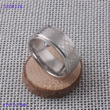 Free shipping Fashion ring jewelry 316l stainless steel ring band w/ Tatoo design engraved mens silver ring comfort fit inside