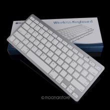 Portable durable Silver Ultra Thin Design Bluetooth 3.0 Wireless Keyboard For iPad for Mac Book/PC Computer