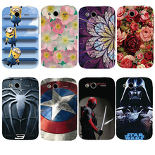 For HTC Wildfire S G13 Cover Beautiful Design Original Plastic Printed Cartoon Phone Case Printing Drawin Fashion Phone Cases(China)