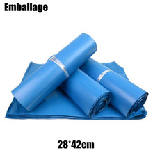 High Quality 28*42cm Blue Express Bag Poly Mailer Mailing Bag Envelope Self Adhesive Seal Plastic Bag PP761