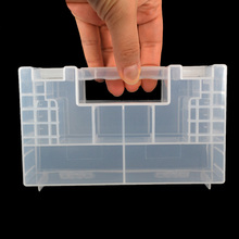 2016 15 x 9 x 5.5cm Clear Hard Plastic AA Battery AAA Case Holder Storage Box for 20 pcs AA 14 pcs AAA C Batterries Wholesale(China)
