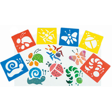 New Plastic 6pcs/set Children Hand Painting Drawing Template Christmas Birthday Game Gifts School Educational Toys for Kids