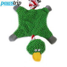 3 Colors Cute Duck Pet Dog Toys Cotton Rope Fleece Puppy Chew Toys 32*19cm