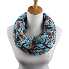 Best sale!Ring Neck Scarves women, lovely Owl Pattern Warm winter Scarf, Wrap Shawl luxury brand Good quality foulard femme #yl