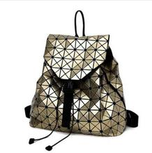 Fashion BAO BAO Women Backpack Diamond Lattice Geometry Quilted Ladies BaoBao Backpack Sac School Bag For Teenage girl baobao(China)