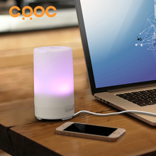 CRDC 50ml Mini Car Essential Oil Diffuser with Car Charger  USB Ultrasonic Air Purifier Aromatherapy Humidifier for Home Office