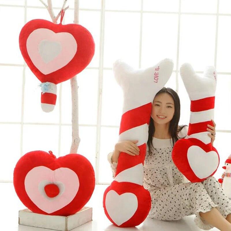 50-110cm Creative colorful Love Heart plush Toys arrow Plush pillow lollipop plush Cushion birthday Childrens day gift<br><br>Aliexpress