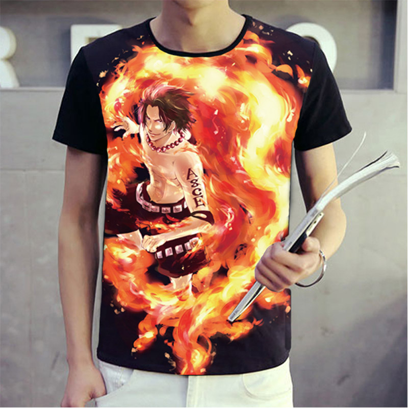 Anime One Piece T shirt Men Women 3d Print T-shirts Luffy Ace Cosplay Costumes Short Sleeve Summer Tees Tops Luxtees (4)