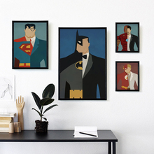 Bianche Wall Superhero Avenger Batman Iron Man Marvel Comics Canvas Painting Print Poster Picture Wall Painting Home Decoration(China)