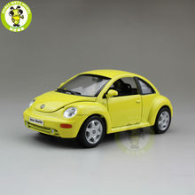 1/24 VW Volkswagen New Beetle Welly 22080 Diecast Model Car Yellow
