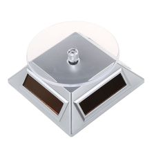 Solar Rotary Display Unit for Electronic Phone Jewelry Exhibition Display (Silver)(China)