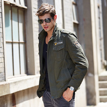 Male Spring Autumn Casual Jacket  Military Tactical Outerwear Army Green Khaki Cargo Clothing Plus Size M-4XL