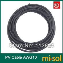 10 meter of 10AWG Photovoltaic cable, UL cable for PV Panels Connection, PV Cable, Solar System Cable