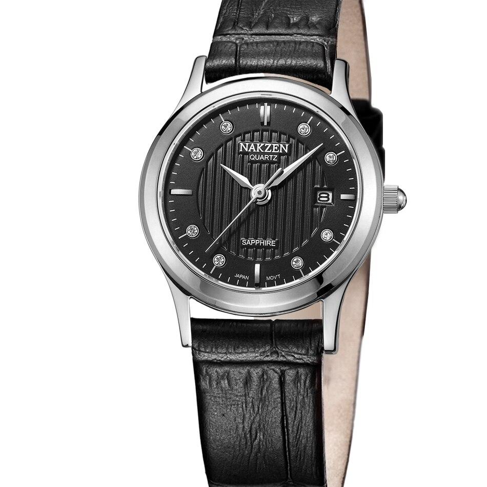 100% NAKZEN Brand Sapphire Crystal Mirror electronic Watch Business Womens Clock  wrist  Watches For Women Girl Party Ware<br>