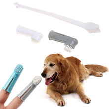 3Pcs/set Pet Finger Toothbrush Dog Brush Breath Double Head Teeth Care Dog Cat Cleaning Toothbrushes For Dogs Pet Supplies(China)