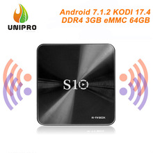 Hot! R-TV BOX S10 3GB DDR4 64GB eMMC KODI 17.4 Android 7.1.2 Smart TV Box 4K TV Box S912 AC WIFI Gigabit LAN Bluetooth 4.1(China)