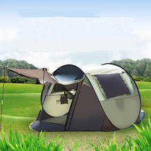 Newest Waterproof Single Fast Opening Automatic Tent 1-2 People Account Beach Outdoor Support Tent For Camping(China)