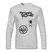 Man My Chemical Romance Logo t-shirt rock music Printing Organic Cotton Tops Unique man Good Selection Tee Shirts(China)