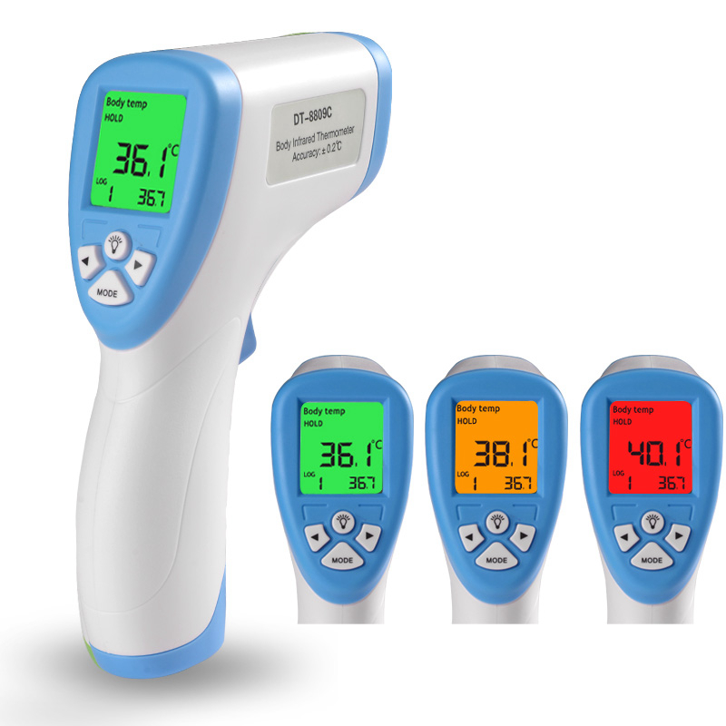 Digital Infrared Thermometer Baby Non-contact Forehead Laser Temperature Meter Hand Tools with 3 color Backlight<br><br>Aliexpress
