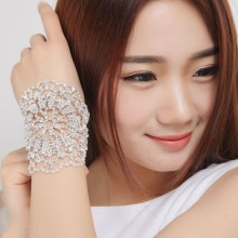 2017 Hot Sale Bridal Bracelet Clear Crystal Hand Cuff Multi-fuction Rhinestone Bridal Armlets Wedding Accessories Arm Chain