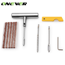 Car Tubeless Tire Repair Kit Bike Auto Tire Tyre Puncture Plugger Repair Diagnostic Tool Kit Accessories Tyre Steel Needle Tool(China)