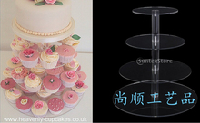4 Tier Wedding cupcake stand NEW Arrival Assemble and Disassemble Round Acrylic cake stands cupcake stand(China)