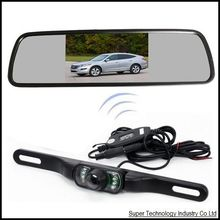 "4.3"" LCD cctv monitor display 2.4G wireless receiver mirror ok for parking assistance,car rearviewer mirror parking camera"