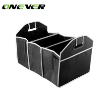 Onever Black Car Trunk Organizer Bag Toys Food Storage Truck Cargo Container Bags Box Car Stowing Styling Auto Accessories(China)