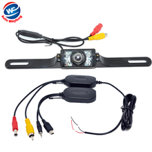 2.4G Wireless waterproof Car Reverse Rear View Camera Backup Parking Camera Russia Waterproof night vision Car RearView Camera(China)