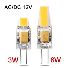 NEW Arrival Mini G4 LED Lamp 3W 6W DC/AC 12V LED G4 Light Dimmable Lampadas LED COB Bulb Replace Halogen Chandelier Lamps