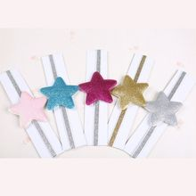 Baby Girl Children Toddler Newborn Infant Headband Headwear Lovely Colored sequins big star Hairband