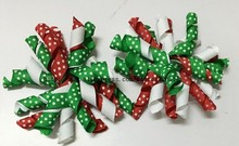 Christmas korker bows korker hair bow colorful corker hair clips mix color boutique korker bows(China)