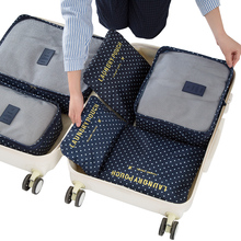 6pcs/set Travel Storage Bags Shoes Clothes Toiletry Organizer Luggage Pouch Kits Wholesale Bulk Lots Accessories Supplies Stuff(China)
