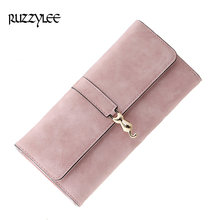 Buy New Brand Long Woman Purse Fashion Designer Female Wallet Clutch Leather Hasp Ladies Purses Luxury Women Wallets Card Holder for $10.30 in AliExpress store