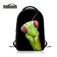 Dispalang 2018 Models Backpack for Men Cheap Name Brand Laptop Rugzak for Teenager Print Insect Pattern on Rucksacks for Travel(China)