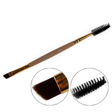1pcs Eyelash Eyebrow Brush Makeup Brush Bamboo Handle Double Head Brush Pro Eye Lash Eye Brow Brush Cosmetic Makeup Beauty Tools