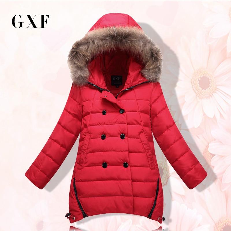 Fashion Girl Winter Down Jackets Trench Coats Fur Hooded Thickening Parka Kids Windbreaker Children Girls Outerwear TZ109 Одежда и ак�е��уары<br><br><br>Aliexpress