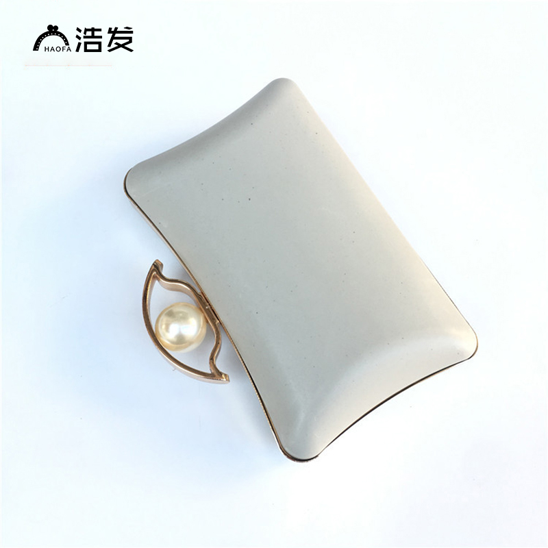 10pcs Wholesale 15 Cm Pearl Candy Bead Metal Purse Frame Handle Silver Tone Glossy Long Feet Purse Frame Diy Bag Accessory Fixing Prices According To Quality Of Products Luggage & Bags