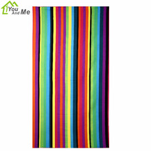 You And Me 100*180cm Microfiber Bath Towel Stripe Pattern Adult Beach Towel For Home Travelling Bathroon Bath Towel
