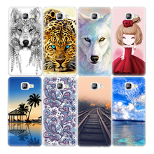 Soft TPU Pattern Case For Samsung Galaxy A5 A3 A7 J3 J5 J7 2016 S6 S7 Edge Phone Cover Bags Cases Princess Black Wolf Blue Sky