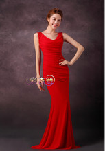 The 2015 red slim fish presided over the women dress L-101(China)