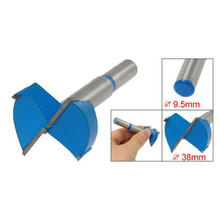 DHDL-New 87g Carpentry 9.5mm Shank 38mm Cutting Diameter Blue Hinge Boring Drill Bit