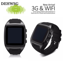 DEHWSG 2017 Smart Watch X01 Bluetooth3.0 Android GPS 2G/3G Dual Core 512 MB 4GB ROM Waterproof Pedometer support SIM card camera(China)