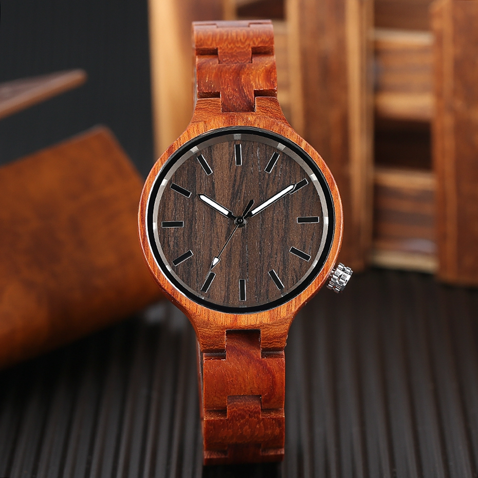 Creative Women's Fashion Wood Watches Women Handmade Bamboo Wristwatch Full Wooden Strap Novel Quartz Watch Relogio Feminino HOT 2017 Rich Women (7)