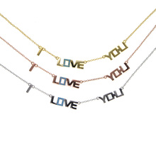 classic 2018 valentines girlfriend gift 3 color mix 100% 925 sterling silver i love you letter elegant jewelry necklace(China)