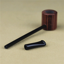 New Vintage Enchase Wooden Smoking Pipe Tobacco Cigarettes Cigar Pipes Durable P40(China)
