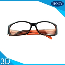 2pcs High Quality Circular Polarized 3D Glasses For Reald Movies,Hard Plastic/Mental Passive TVs Circular Eyewear 3D Glasses(China)